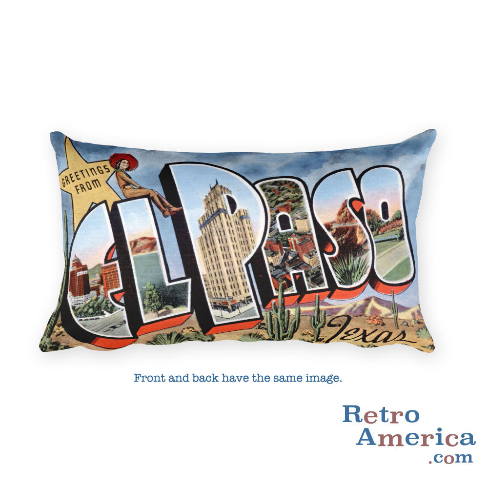 Greetings from El Paso Texas Throw Pillow 2