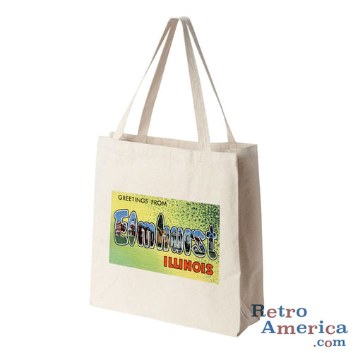 Greetings from Elmhurst Illinois IL Postcard Tote Bag