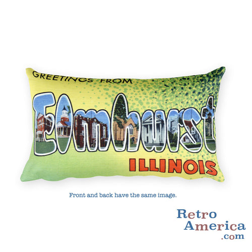 Greetings from Elmhurst Illinois Throw Pillow