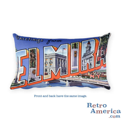 Greetings from Elmira New York Throw Pillow