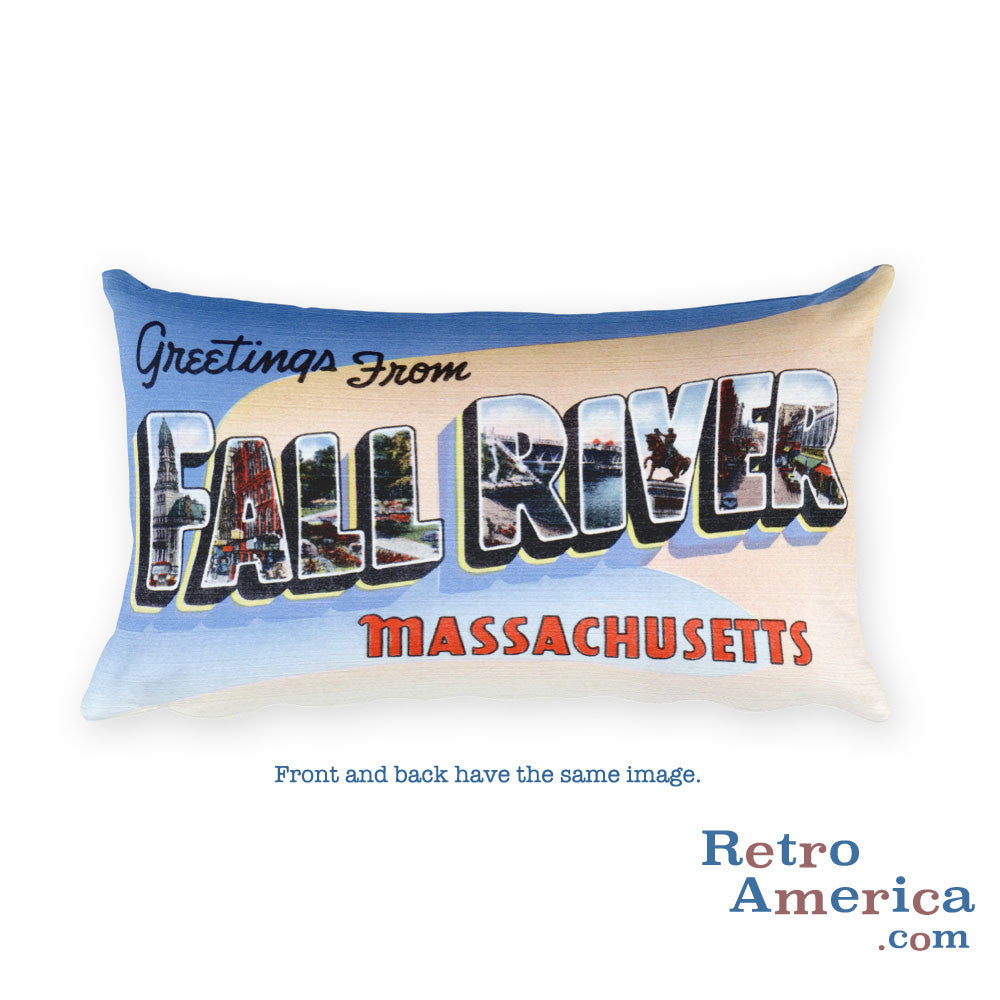 Greetings from Fall River Massachusetts Throw Pillow