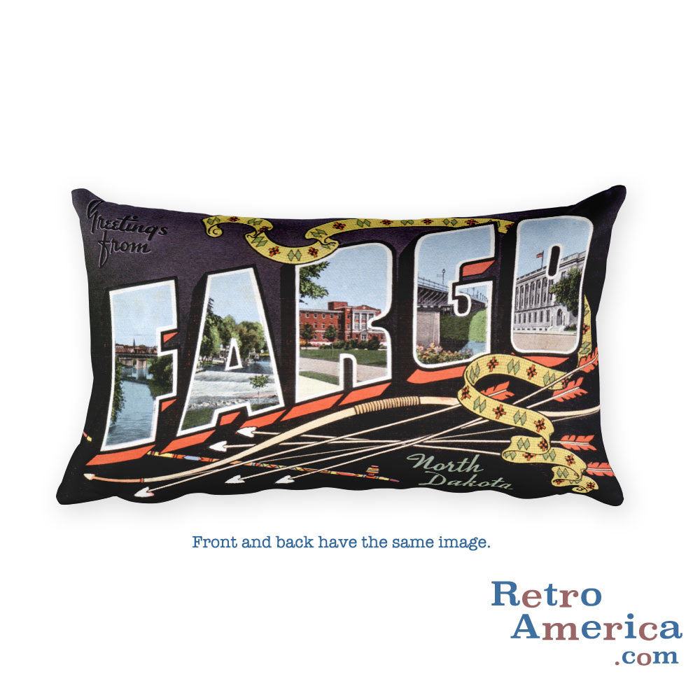 Greetings from Fargo North Dakota Throw Pillow 2