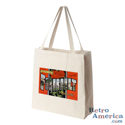 Greetings from Faribault Minnesota MN Postcard Tote Bag