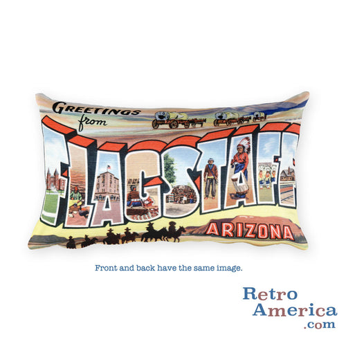 Greetings from Flagstaff Arizona Throw Pillow