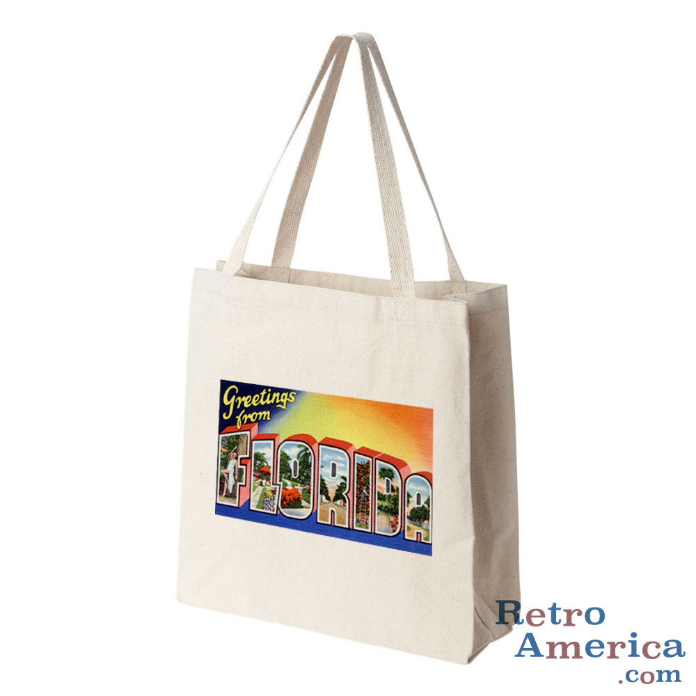 Greetings from Florida FL 4 Postcard Tote Bag