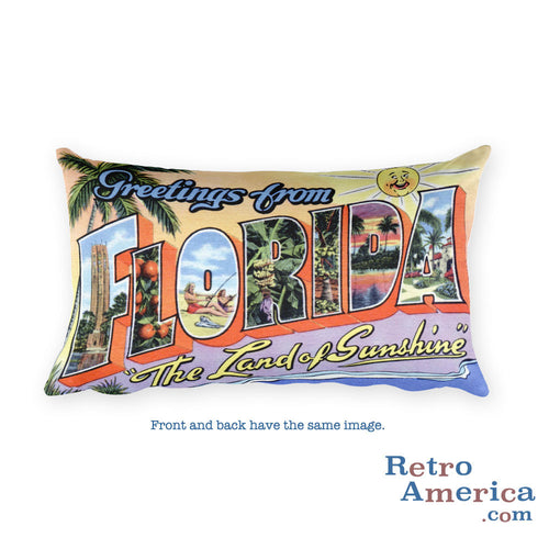 Greetings from Florida Throw Pillow 3