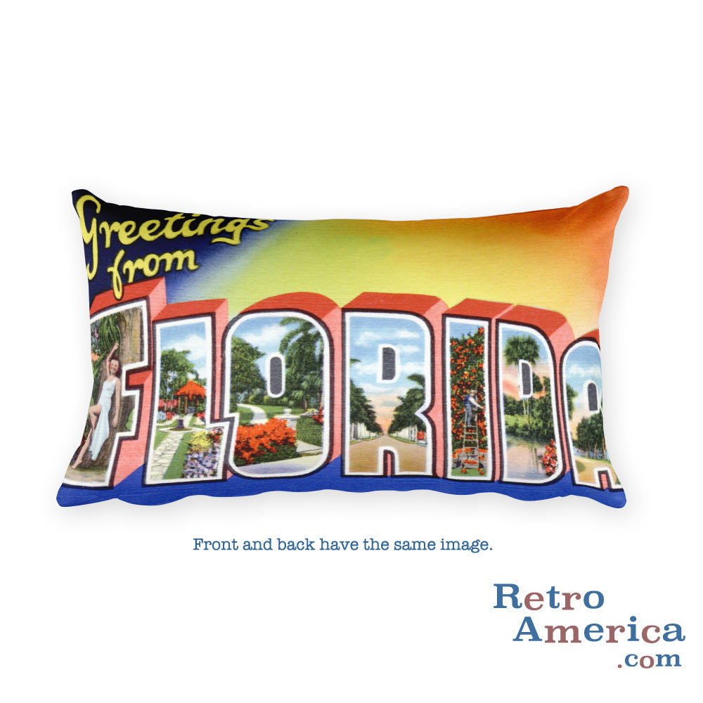 Greetings from Florida Throw Pillow 4