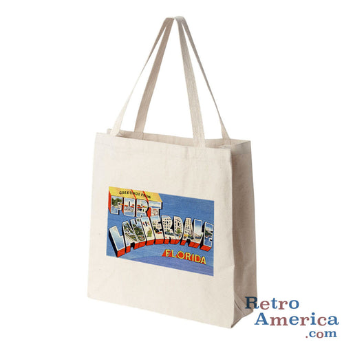 Greetings from Fort Lauderdale Florida FL 1 Postcard Tote Bag