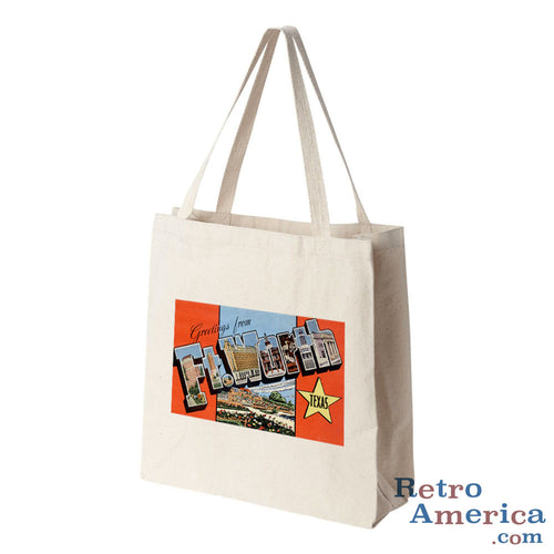 Greetings from Fort Worth Texas TX Postcard Tote Bag