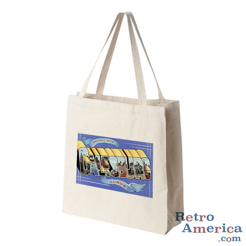 Greetings from Galesburg Illinois IL Postcard Tote Bag