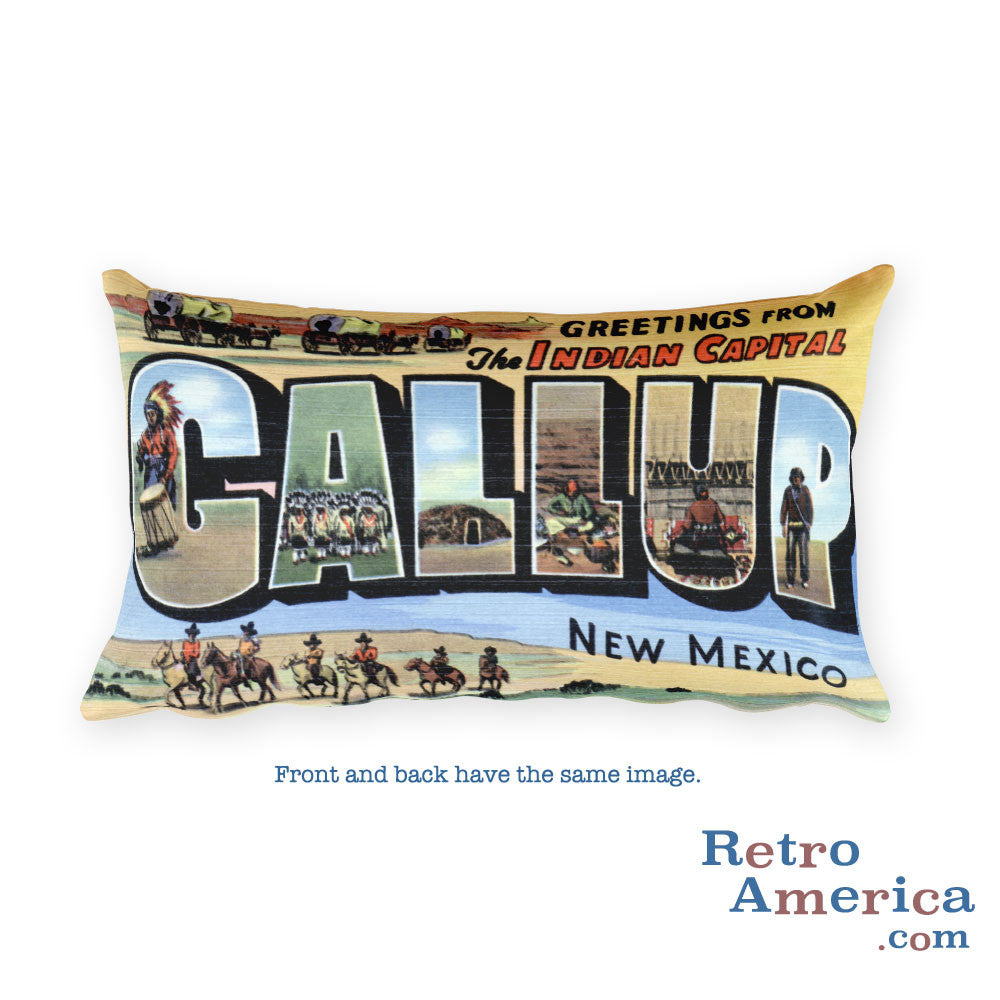 Greetings from Gallup New Mexico Throw Pillow
