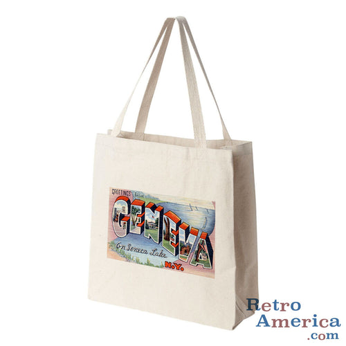 Greetings from Geneva New York NY Postcard Tote Bag