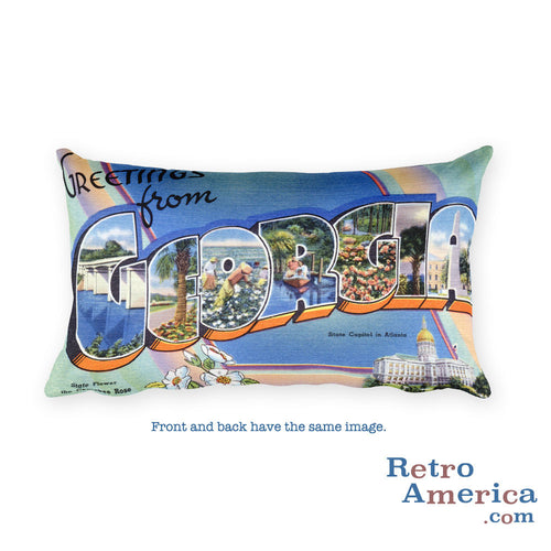 Greetings from Georgia Throw Pillow 1