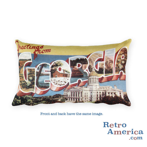 Greetings from Georgia Throw Pillow 3