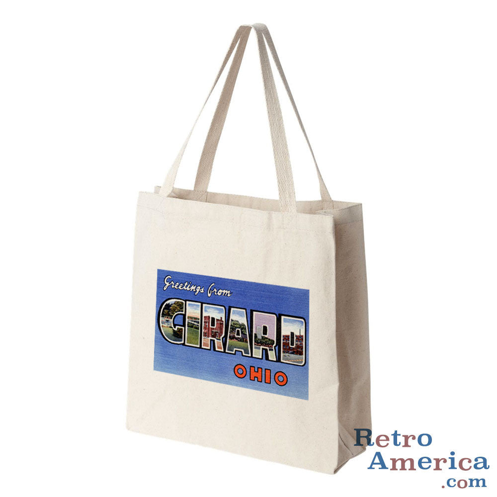 Greetings from Girard Ohio OH Postcard Tote Bag