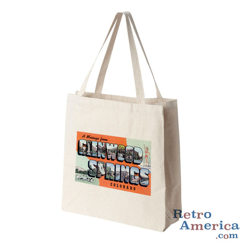 Greetings from Glenwood Springs Colorado CO Postcard Tote Bag