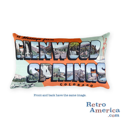 Greetings from Glenwood Springs Colorado Throw Pillow
