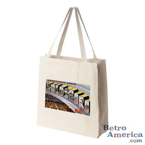 Greetings from Goldsboro North Carolina NC Postcard Tote Bag