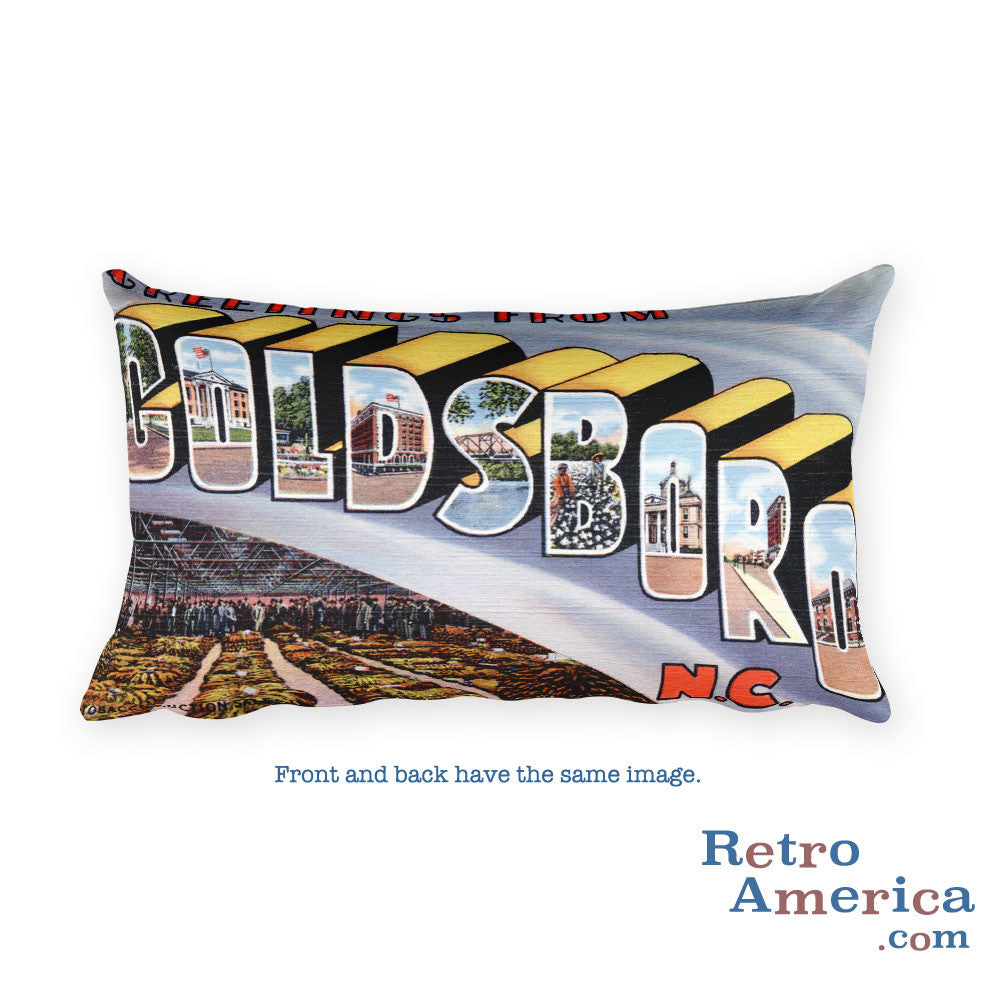 Greetings from Goldsboro North Carolina Throw Pillow