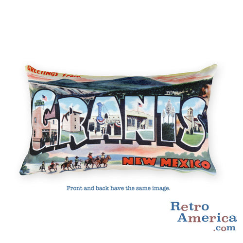 Greetings from Grants New Mexico Throw Pillow