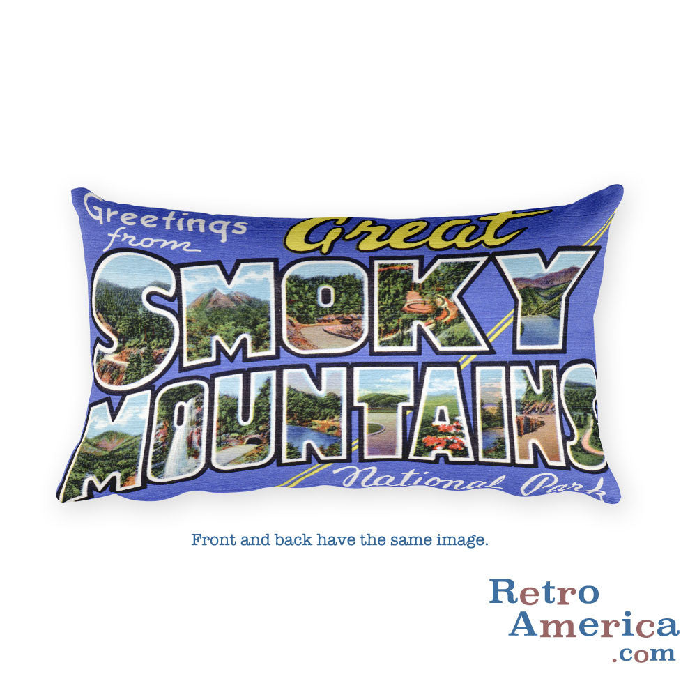 Greetings from Great Smoky Mountains Tennessee Throw Pillow 2