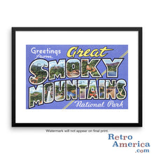 Greetings from Great Smoky Mountains Tennessee TN 1 Postcard Framed Wall Art