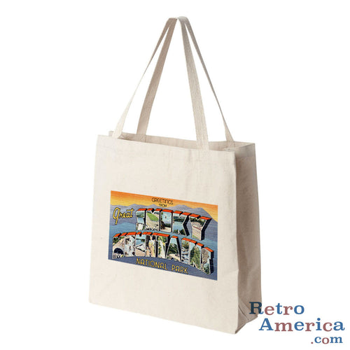 Greetings from Great Smoky Mountains Tennessee TN 2 Postcard Tote Bag