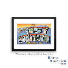 Greetings from Great Smoky Mountains Tennessee TN 2 Postcard Framed Wall Art