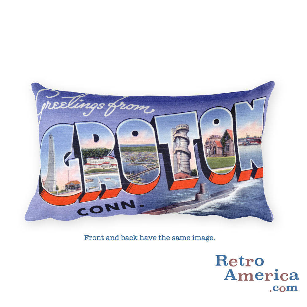 Greetings from Groton Connecticut Throw Pillow