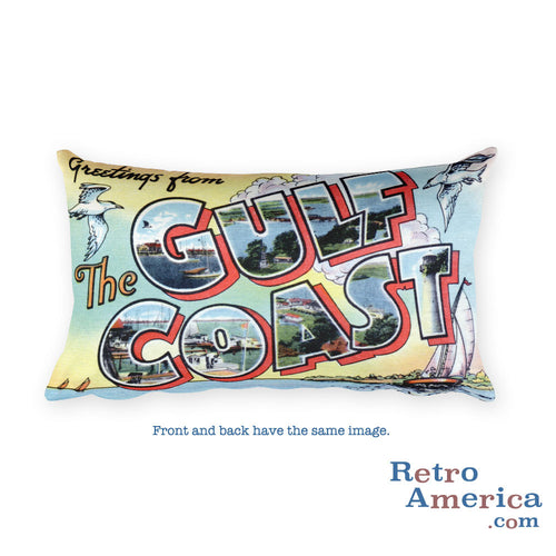 Greetings from Gulf Coast Throw Pillow