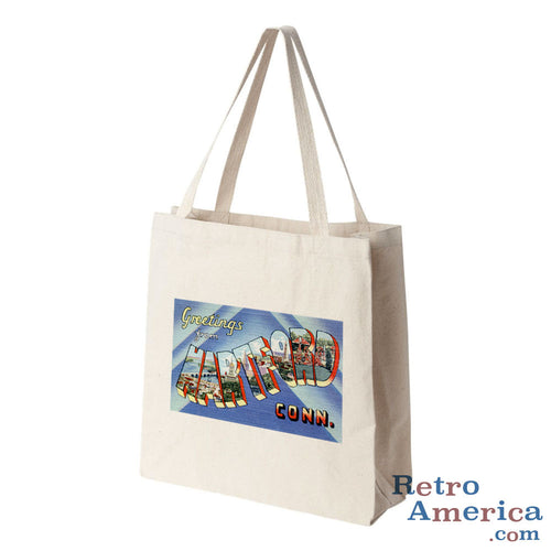Greetings from Hartford Connecticut CT 2 Postcard Tote Bag