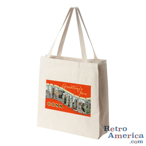 Greetings from Hartford Connecticut CT Postcard Tote Bag