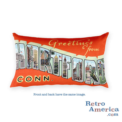 Greetings from Hartford Connecticut Throw Pillow 1