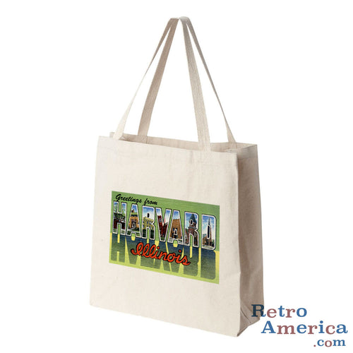 Greetings from Harvard Illinois IL Postcard Tote Bag