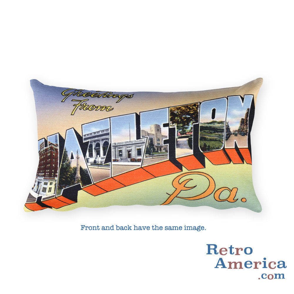 Greetings from Hazleton Pennsylvania Throw Pillow