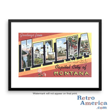 Greetings from Helena Montana MT Postcard Framed Wall Art