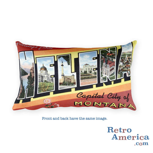 Greetings from Helena Montana Throw Pillow