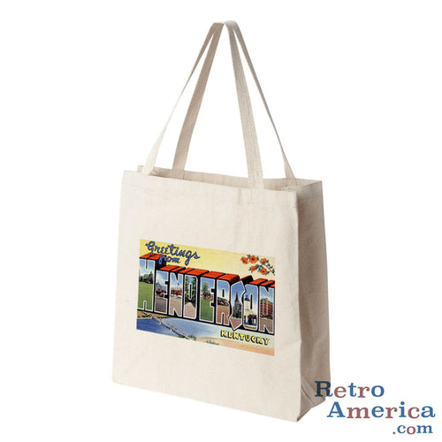 Greetings from Henderson Kentucky KY Postcard Tote Bag