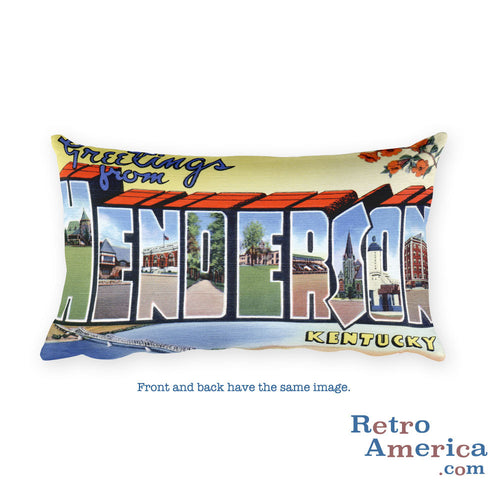 Greetings from Henderson Kentucky Throw Pillow