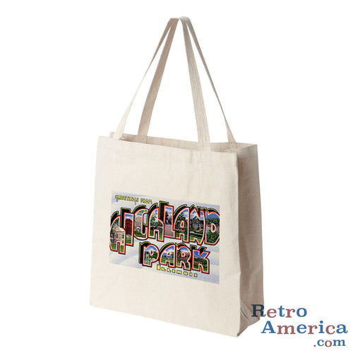 Greetings from Highland Park Illinois IL Postcard Tote Bag
