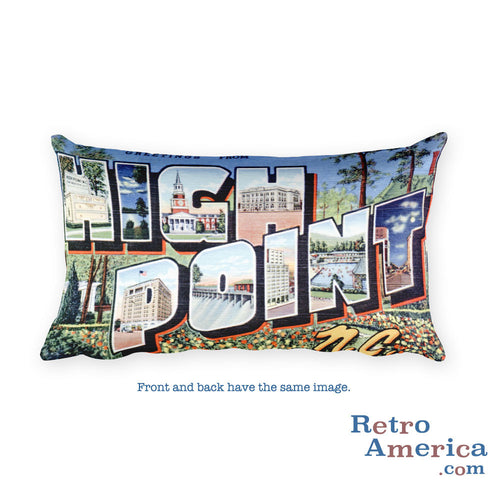 Greetings from Highland Park Illinois Throw Pillow