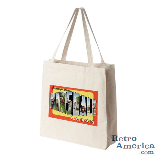 Greetings from Hinsdale Illinois IL Postcard Tote Bag