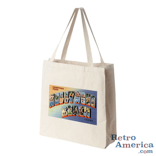 Greetings from Hollywood Beach Florida FL Postcard Tote Bag