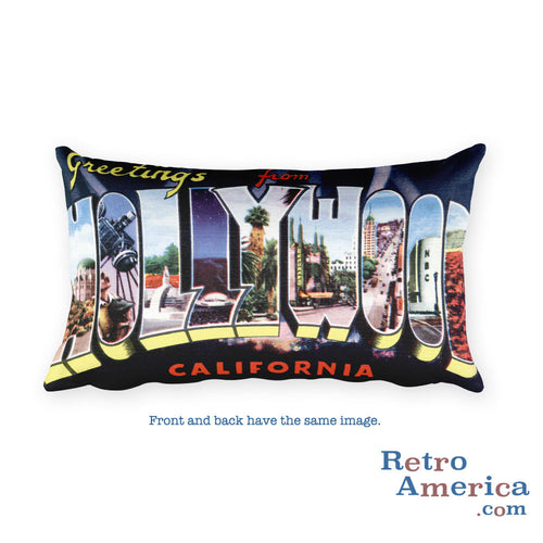 Greetings from Hollywood California Throw Pillow 2