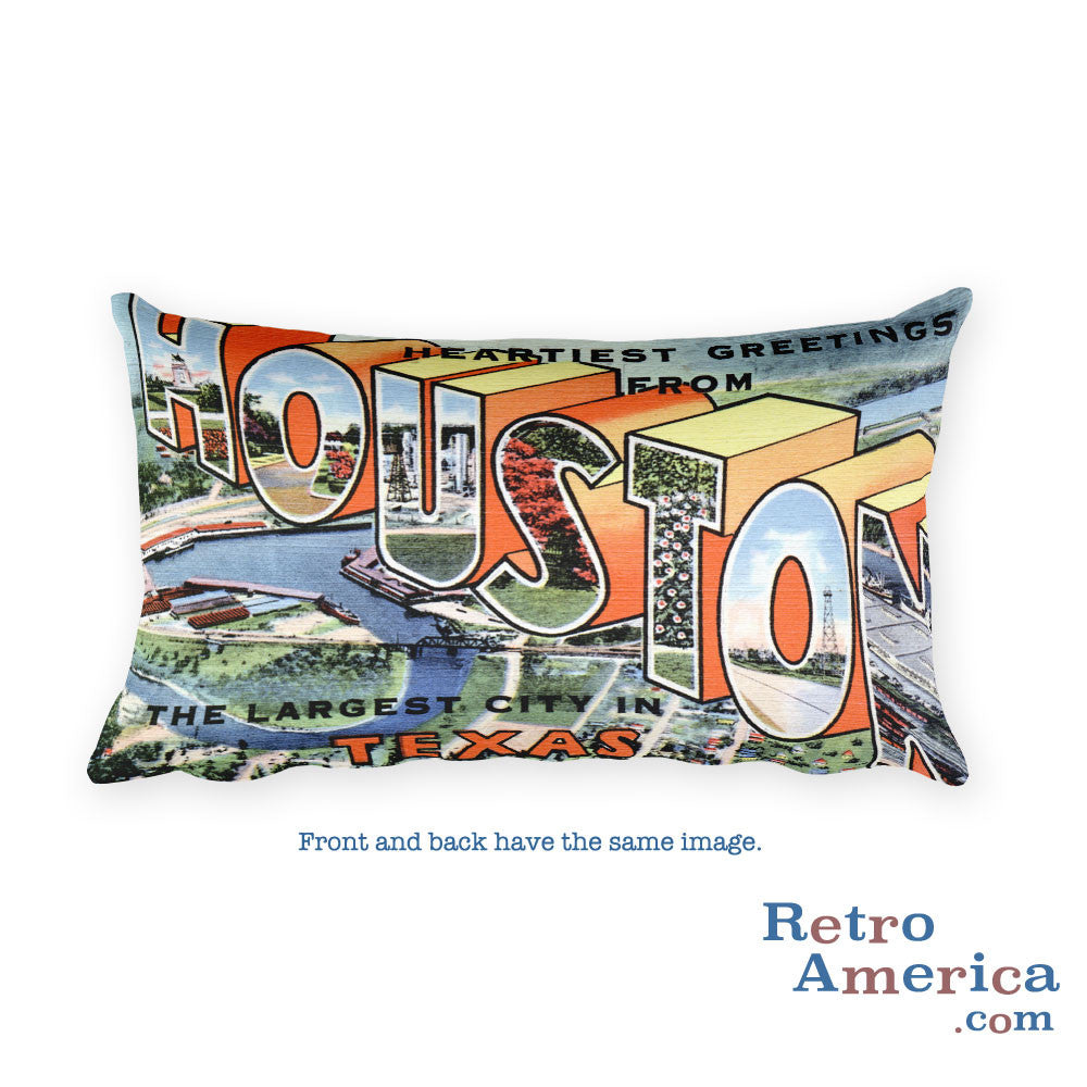 Greetings from Houston Texas Throw Pillow 4