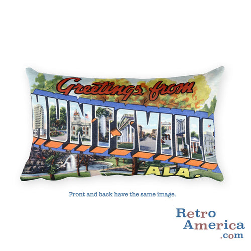 Greetings from Huntsville Alabama Throw Pillow