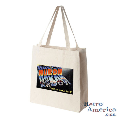 Greetings from Huron Ohio OH Postcard Tote Bag