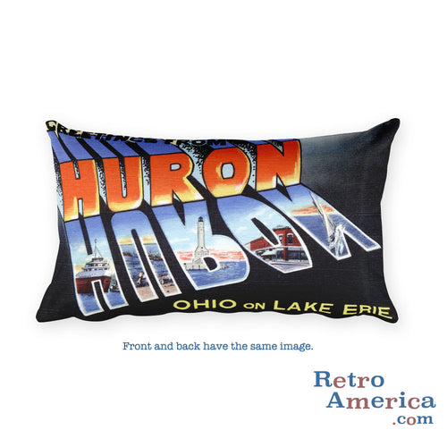Greetings from Huron Ohio Throw Pillow