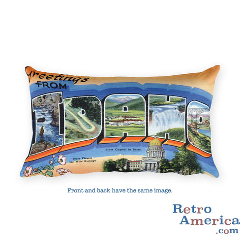 Greetings from Idaho Throw Pillow