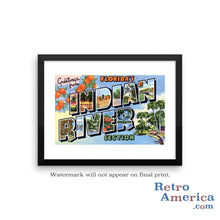 Greetings from Indian River Florida FL Postcard Framed Wall Art
